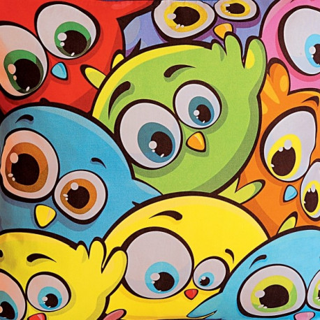 Colorful Birds Kids Cushion Covers- KCC-121