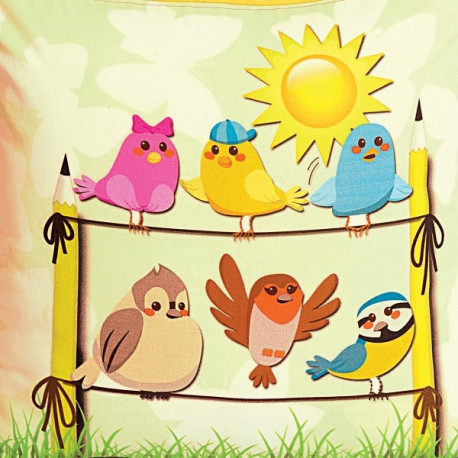 Small Birds Kids Cushion Covers- KCC-122