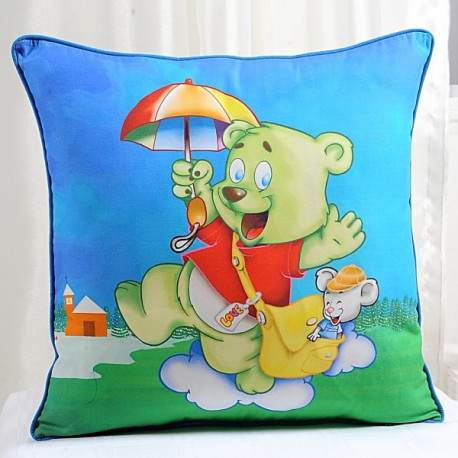 Dancing Teddy Kids Cushion Covers- KCC-131
