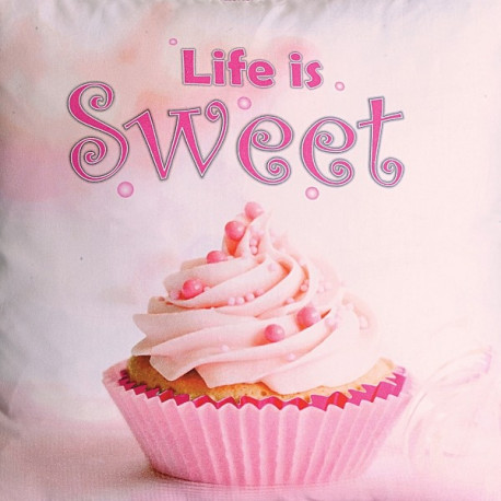 Life is Sweet Teens Cushion Cover (KCC- 128)