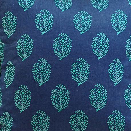 Turquoise Bouquets Printed Cushion Covers – 2008