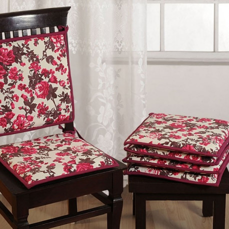 Pink Floral Chair Pads- CPD01- 2712