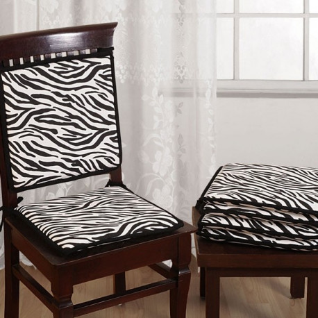 Zebra Stripes Chair Pads– CPD01- 2802