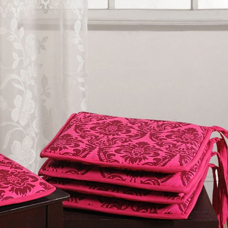Pink Baroque Chair Pads- CPD01- 9008