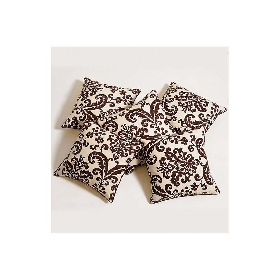 Chocolate Baroque Cushion Cover-9009