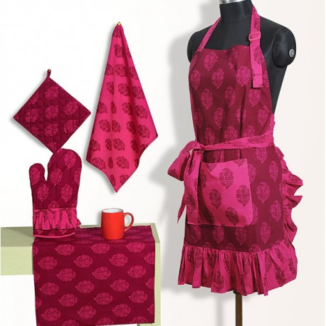 Frilly Apron Set - FA3008