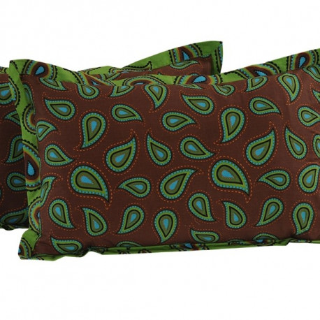 Green Paisley Pillow Cover- 2456