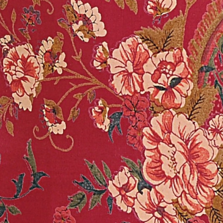 Red Paisley Pillow Covers- 3002