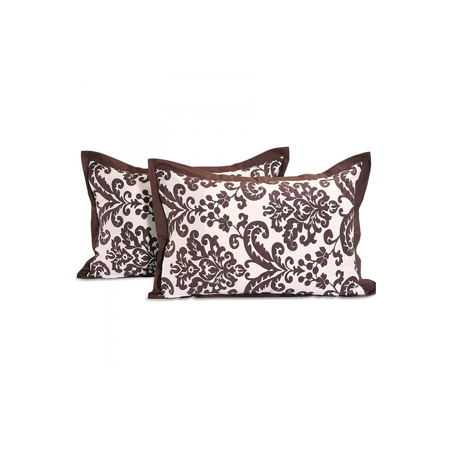 Chocolate Baroque Pillow Cover- 9009