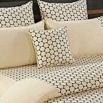 Creamy Circles Bed Sheet - Shades of Paradise (D. No. 6220)