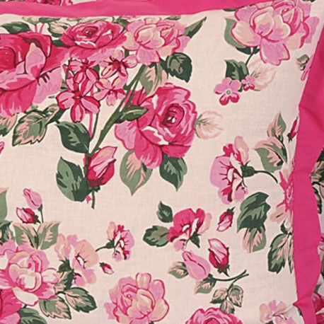 Pink Roses Pillow Cover-1428