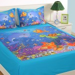 Double Kids Bed Sheet- DKB-141 Marine N