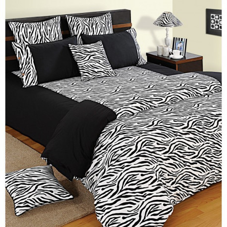 Wild Zebra Print Bed Sheets – Shades of Paradise -2802