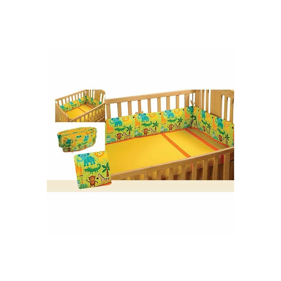 Fantasy Jungle Cot Bumper- 162