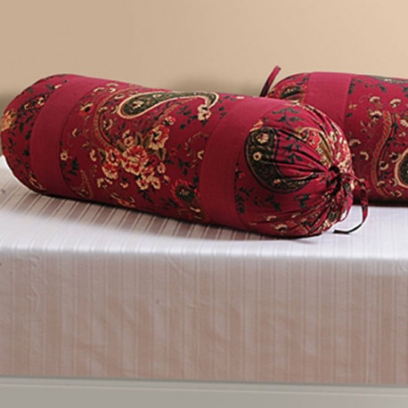 Coral Red Bolster Cover-3002
