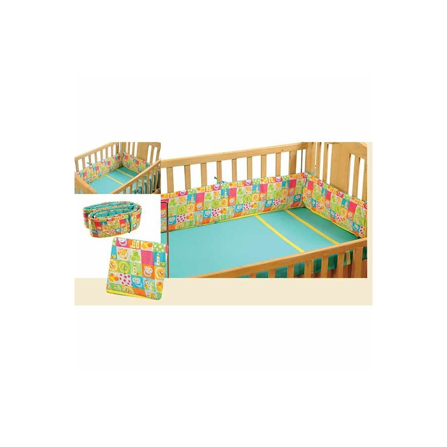 Colored Checkered Cot Bumper- 1011