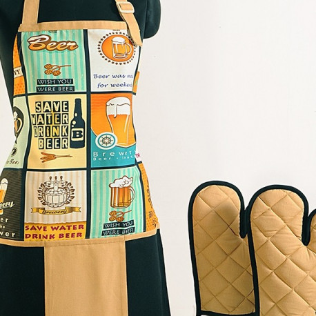 Beer Brown Digital Aprons- APT- 6007-Beer