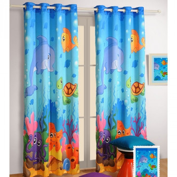 cute insulated curtains polycotton for blue p star poly cotton print kids