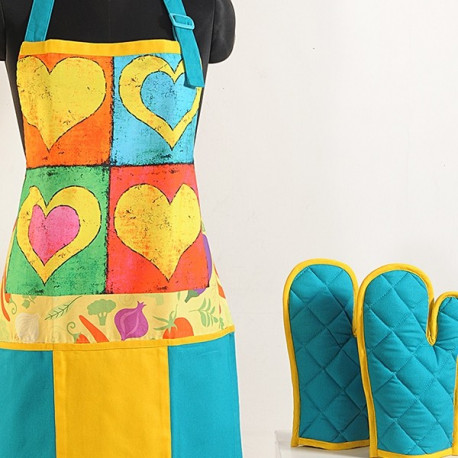 Color Hearts Digital Aprons: Apt- 6008