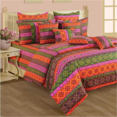 Design Splash Bed Sheet - Shades of Paradise - 1424