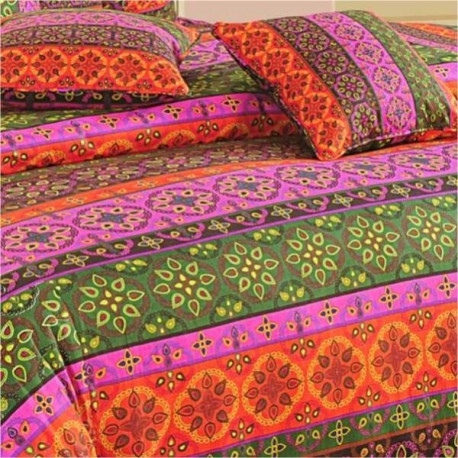 Design Splash Bed Sheet- Shades of Paradise- 1424