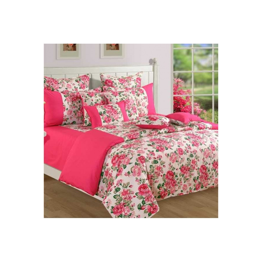 Blush Roses Bed Sheet- Shades of Paradise- 1428