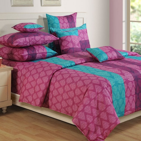 French Rose Bed sheet- Shades of Paradise- 1301