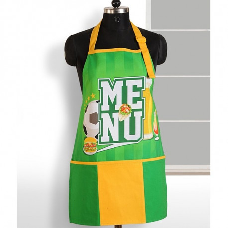 Swayam Green Yellow Digital Aprons– APT-6004