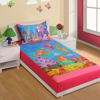 Little Mermaid Kids Single Bed Sheet Skb 190