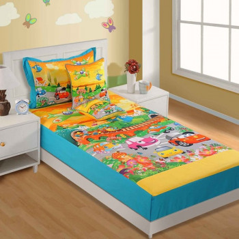 Marvelous Cars Kids Single Bed Sheet SKB 188