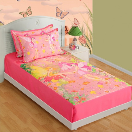 Kids Bedsheet Single- SKB-195 Fairy Friends