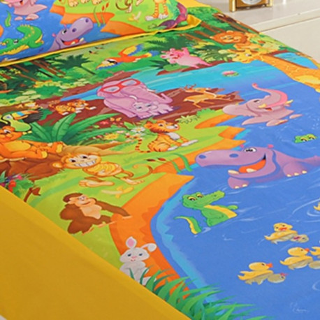 Kids Bedsheet Single- SKB-5601 Animal