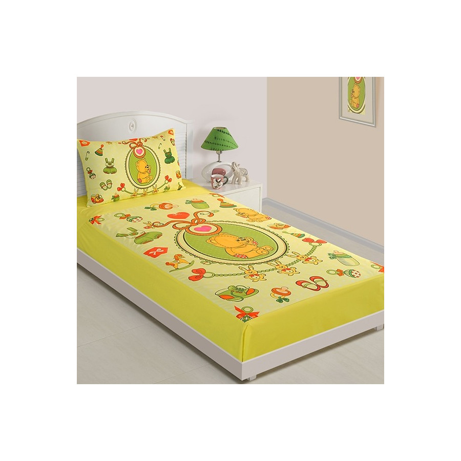 Baby Teddy Single Bed Sheet SKB 1009
