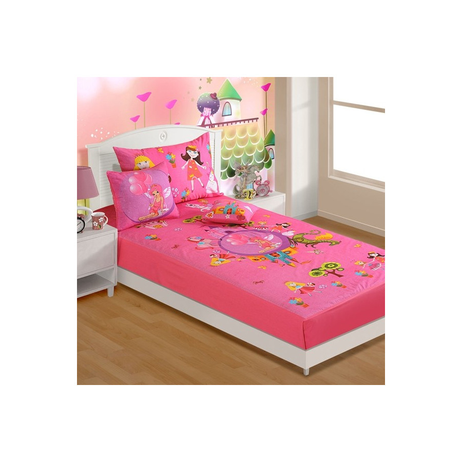 Charming Fairy Land Kids Bed Sheet  SBK  184