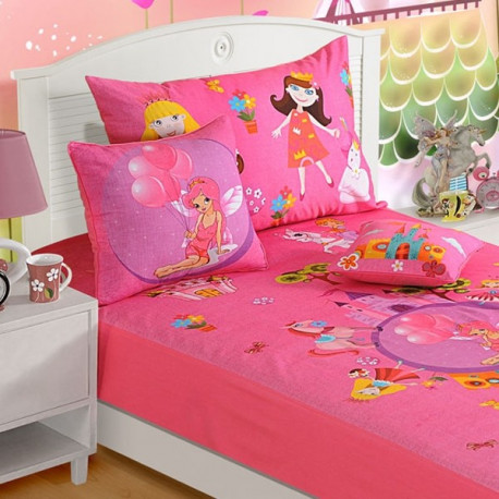 Fairy Land Kids Bed Sheet- SBK- 184