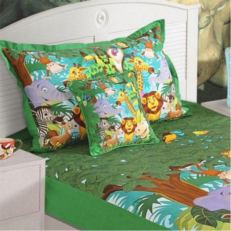Jungle Kids Bed Sheet- SBK-134