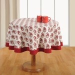 Printed Round Table Linen-7007