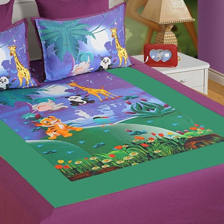 Double Kids Bed Sheet- DKB-140 Moonlight