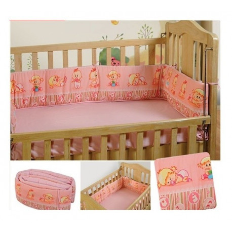 Pink Baby Cot Bumper - Infant Girl