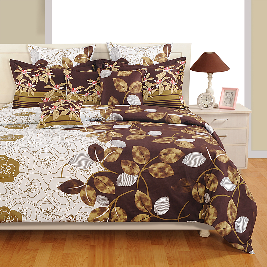 Brown Gold Satin Bed Sheets- 1955