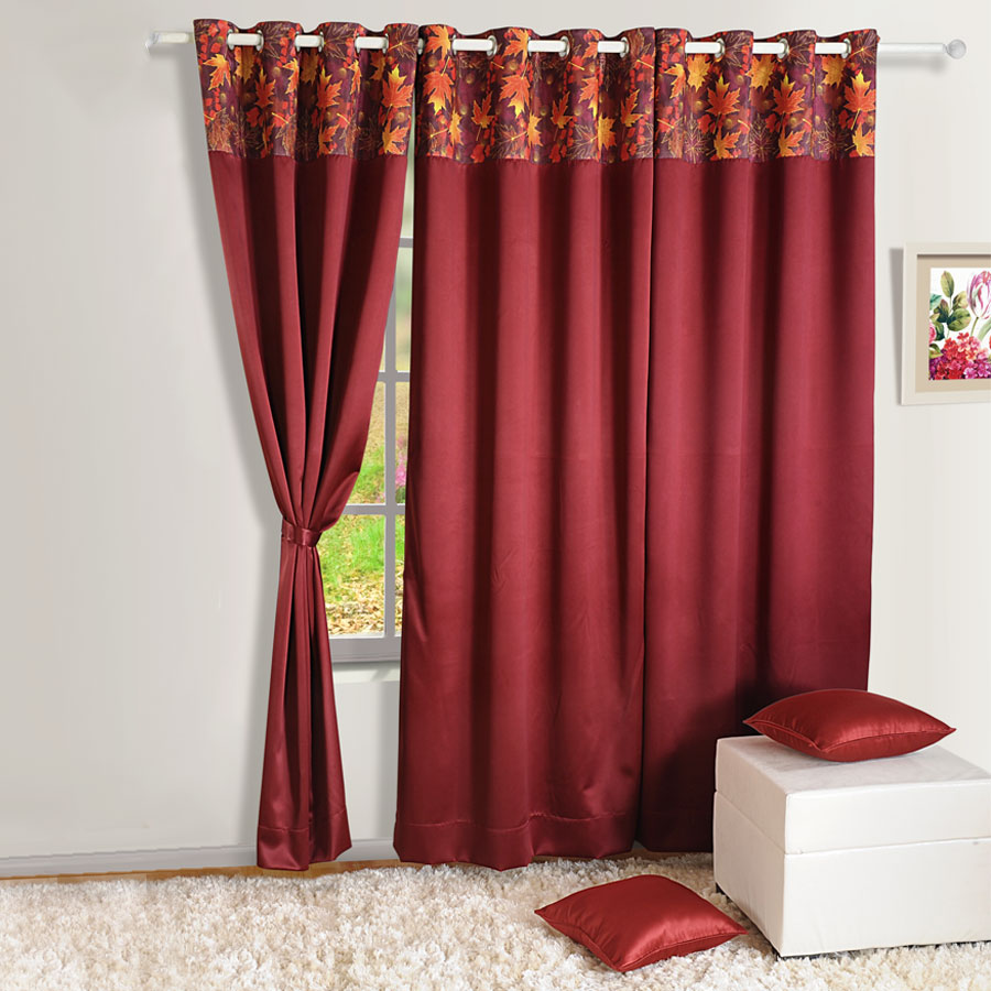 and blackout two p thermal burgundy elegant polyester curtains panels graceful curtain