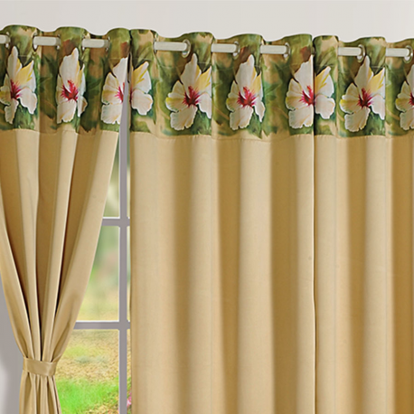 Blackout Curtains Printed Latte Beige-2008
