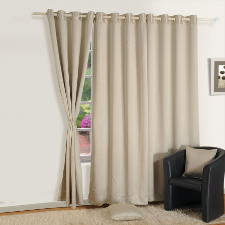Shiny Silver Jacquard Blackout Curtains- 2056