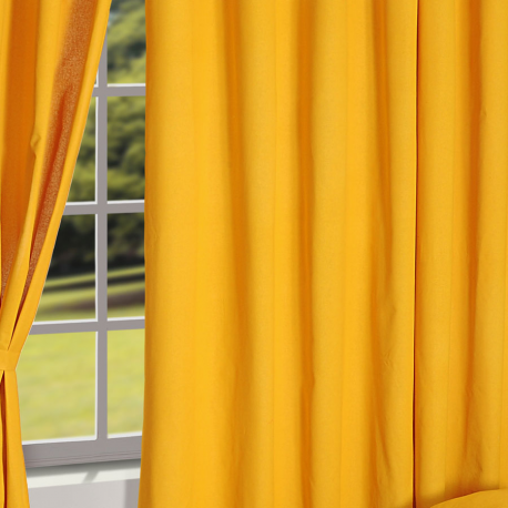 Warm Yellow Solid Curtains – 5904