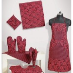 Maroon Fiona Kitchen Linen- 7021