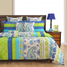 Aquamarine Motif Sparkle Bed Sheets- 8209