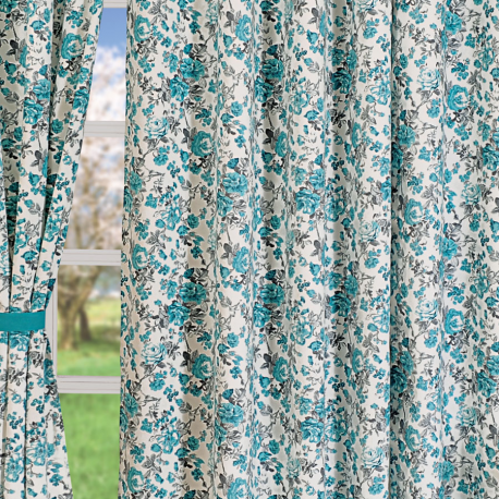 Blue Rose Curtains-2711