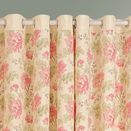 Peach Blossoms Printed Curtains - 3612