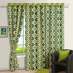 Geometric Patterns Printed Curtains – 1408