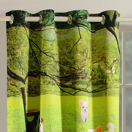 Dogs Lounge Curtains-1106